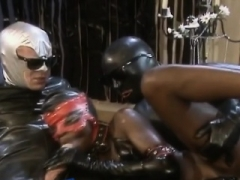 Ebony in leather gets double drilling
