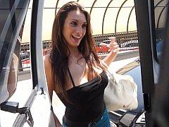 Ana Ribera giving head in the bus