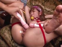 Sana Anzyu fantastic bondage and extreme sex