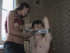 Cuckold boyfriend watches his hotty getting down and dirty with a stranger