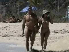 Lovebirds rejoice on a sunny spy beach
