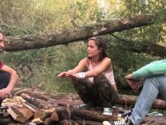 Брюнетки, Групповуха, Хд, На природе, Втроем