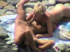 Fellatio and moreover hand moreoverjob on beach