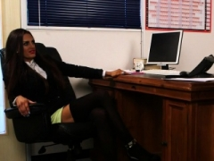 CFNM office broad humiliating and plus instructing