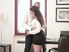美女, フェラチオ, 茶髪の, ハードコア, 淫乱熟女, オフィス, 秘密の, 濡れ