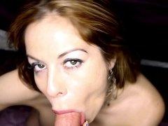 Kora Peters erotically sucks on this stiff dick in POV