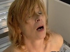 Aroused housewife going wild riding