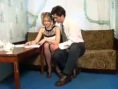 18-19 year old babe have an intercourse on pantyhose