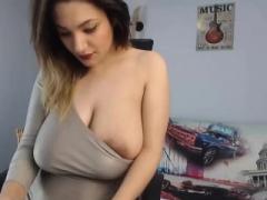 Amateur, Blonde, Mamelons, Solo, Webcam