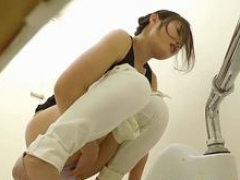 Adorable Asiatic whore loves taking a leak in this hot scene