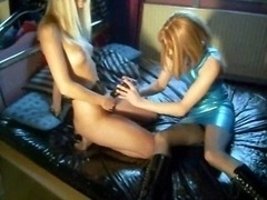Homemade Clip Of Lesbian Broad With Strapon