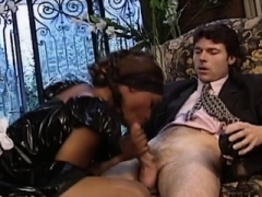 African floozy in maid uniform caught in an interracial