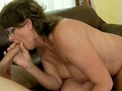 Old bitch getting fucked pretty hard