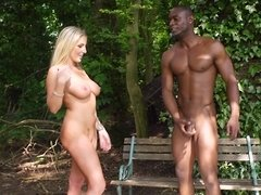 A black dude has his way with a hot curvy blonde princess