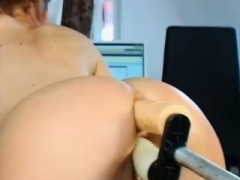 Horny Nice Ass Hoochie Gets Nailed By Fuck Machine