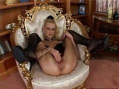 underweight blond doing anal