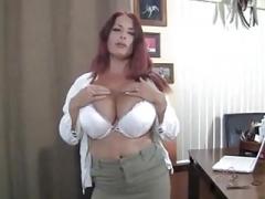 British Large Breasts Aged Redhead