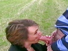 More experienced mature couple risky outdoor sex