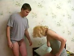 Son helps mommy to get orgasm