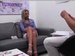 Blonde gal with doctor's performance superb