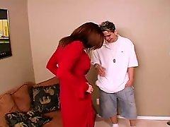 Milf Gets Cum on her Stockings