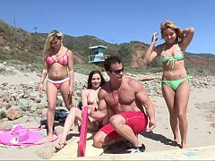 Adventurous ladies with a hot dude