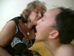 French Old Dominatrix and moreover her Menial