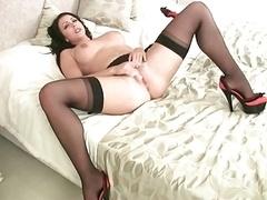 Nina in black stockings