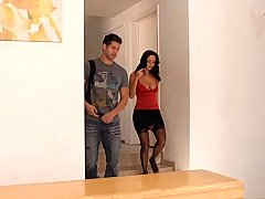 Taking my friends hot mom to my bedroom party