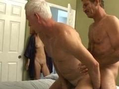 Old Man Slender Girl Bisex