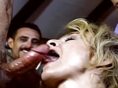 Blonde Soccer mom Gets Used Like A Slut While Hubby Watches