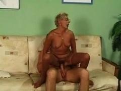 Blonde Granny in Stockings...