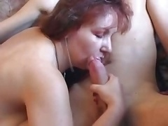 Mature Curvy Mom With Youthful Boy