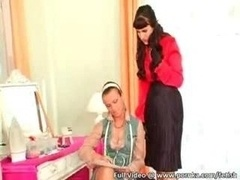 Boss With Silk And besides Satin Fetish Has Lesby Sex With Personal Assistant