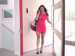 お尻, 浴室, デカパイ, 茶髪の, ドレス, 指いじり, 母, ストリップ
