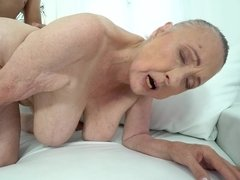 Lustful granny Sila needs a younger cock for her last sex