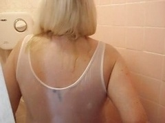 Jo Juggs in shower