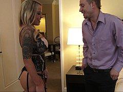 Seductive MILF gets a surprise night visit