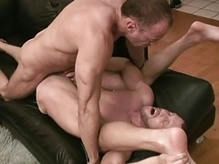 Rough Gay Muscle Lovers Bareback Cum Fucking