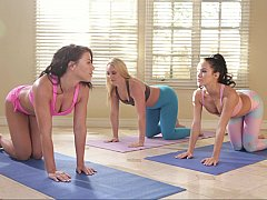 Wettest yoga session