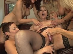 Nina Hartley gangbanged by these hot lesbian chicks