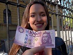 Amateur, Europeo, Húngaro, Dinero, Pov, Público, Coño, Realidad
