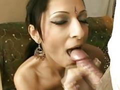Indian Bhabhi Giving head Husband Cock