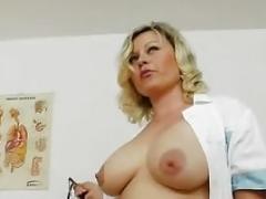 Natural huge titties Kathy Glamorous is stockings nurse
