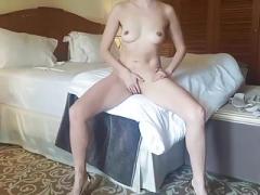 Glamorous Wife Masturbating in Hotel
