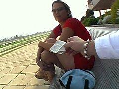 Gafas, Dinero, Al aire libre, Pov, Público, Coño
