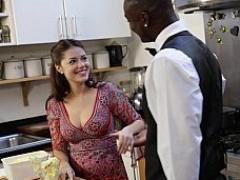 Noire, Sucer une bite, Nourriture, Interracial, Cuisine, Mère que j'aimerais baiser, Chevaucher, Suçant
