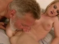 Grandpas Getting down and dirty 18-19 year-old chicks