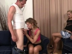 She sees her man getting down and dirty mother in law