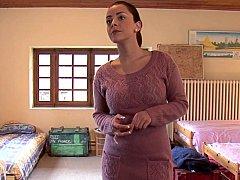 Dormitorio, Morena, Consolador, Grupo, Lesbiana, Orgía, Fiesta, Adolescente